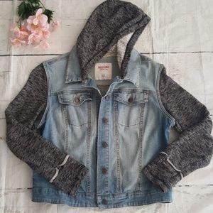 Mossimo hooded Jean jacket size XXL/TTG
